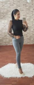 Yüksek Bel Skinny Jean - GRİ