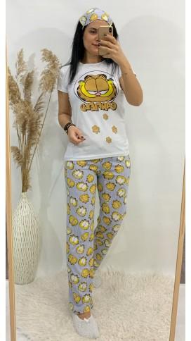 Garfield Pijama Takımı - BEYAZ