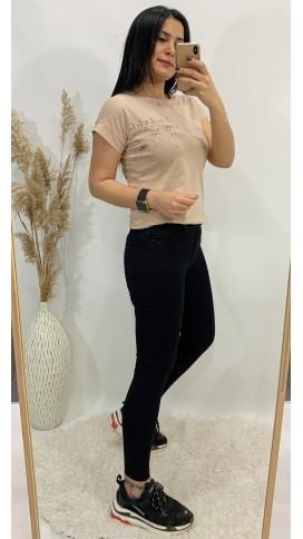 Yüksek Bel Likralı Skinny Jean - SİYAH