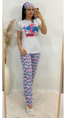 Şirinler Pijama Takımı - PEMBE