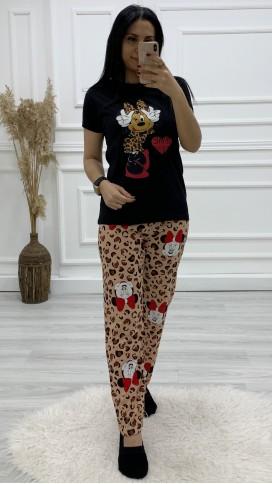 Minnie Pijama Takımı - SİYAH
