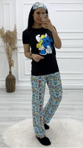 Şirinler Pijama Takımı - SİYAH