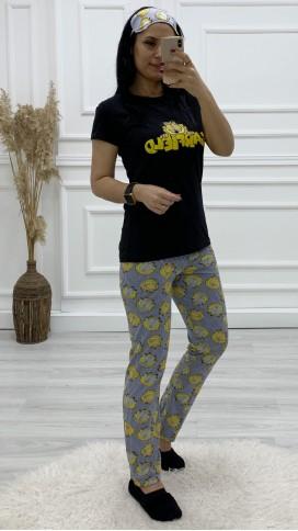 Garfield Pijama Takımı - SİYAH