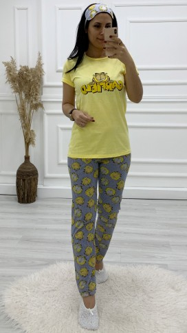 Garfield Pijama Takımı - SARI