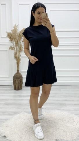 T Kol Spor Elbise - SİYAH