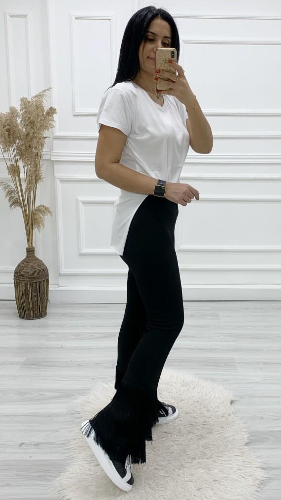 Püskül Paça Orjinal Pantolon - SİYAH