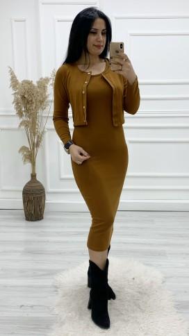 Triko Elbise Hırka Takım - TARÇIN