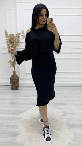 Elbise Bluz Takım - SİYAH