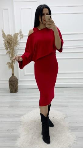 Elbise Bluz Takım - KIRMIZI