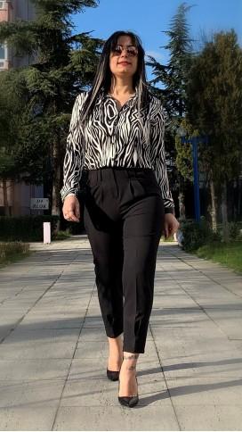 Zebra Viskon Gömlek - SİYAH