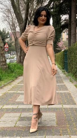 Drapeli Elbise - BEJ