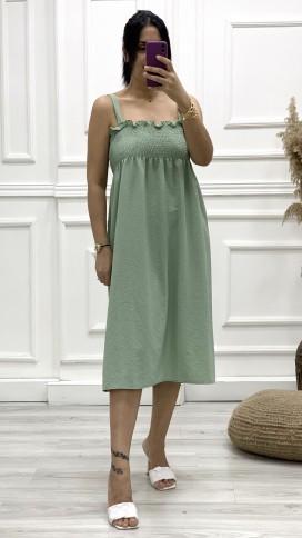 Gipeli Askılı Elbise - MİNT